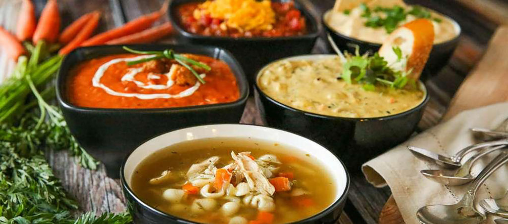 soup's served - clients are talking (Horizons Catering)