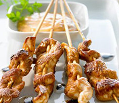 Tandoori chicken skewers (Horizons Catering)