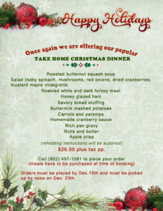 Holiday Menu (Horizons Catering)